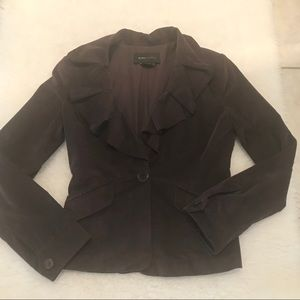 BCBG MaxAzria Suede women's blazer size M